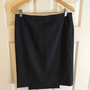 Theory Black Suit Skirt